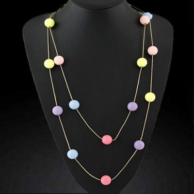 Native multicolor candy color beads decorated simple design rosin Chains