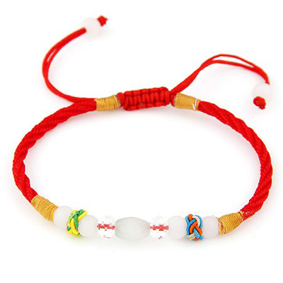 Airmail red beads decorated simple design rope Korean Fashion Bracelet