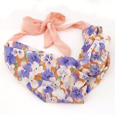 Urban multicolor flower pattern simple design fabric Hair band hair hoop