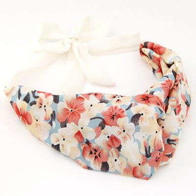 Girls multicolor flower pattern simple design fabric Hair band hair hoop
