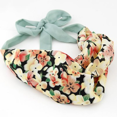 Fabulous multicolor flower pattern simple design fabric Hair band hair hoop