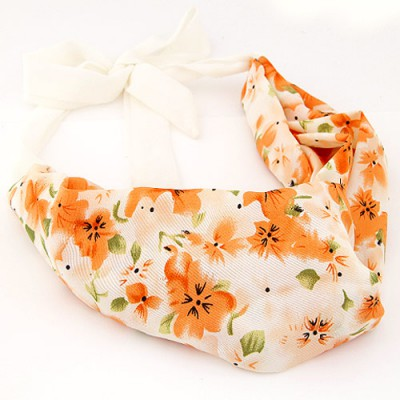 Padded multicolor flower pattern simple design fabric Hair band hair hoop