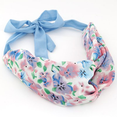 Lightning multicolor flower pattern simple design fabric Hair band hair hoop