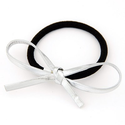Chic silver color bowknot decorated simple design alloy Hair band hair hoop