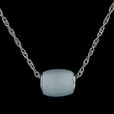 Digital light blue cylinder shape pendant simple design alloy Chains