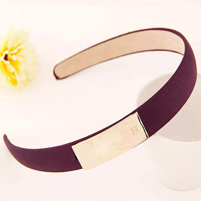 Apparel dark purple metal decorated simple design alloy Hair band hair hoop