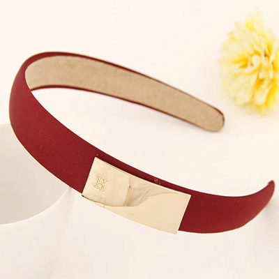 Sample claret-red metal decorated simple design alloy Hair band hair hoop