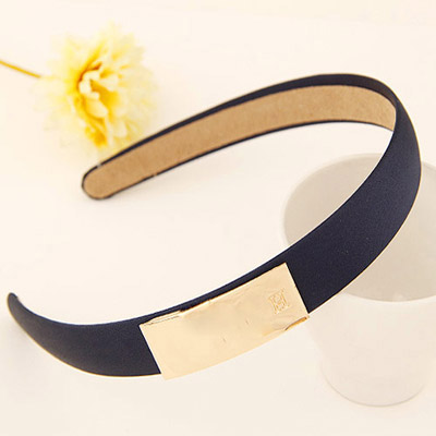 Cocktail navy blue metal decorated simple design alloy Hair band hair hoop