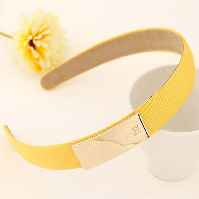 Madewell yellow metal decorated simple design alloy Hair band hair hoop