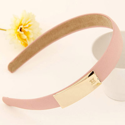 Electric pink metal decorated simple design alloy Hair band hair hoop