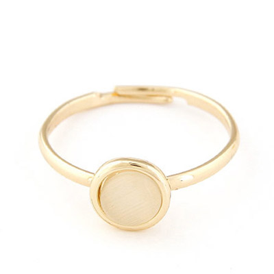 Peterbilt glod color opal decorated simple design alloy Korean Rings