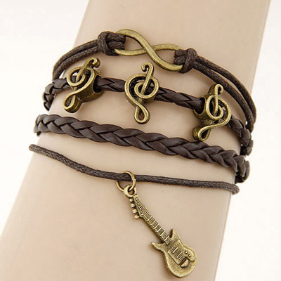 Beige Brown Multielement Decorated Multilayer Design