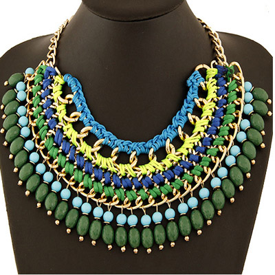 Imitation Green Beads Weave Multilayer Design