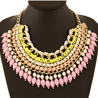 Celtic Pink Beads Weave Multilayer Design
