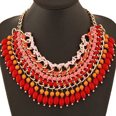 Imitation Red Beads Weave Multilayer Design