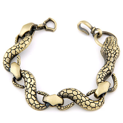Vibrating Bronze Snake Shape Decorated Simple Design Alloy Korean Fashion Bracelet