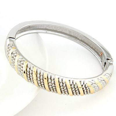 Catholic Gold & Silver Color Round Shape Simple Design Alloy Fashion Bangles