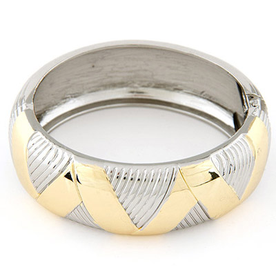 Papyrus Gold & Silver Color Round Shape Simple Design Alloy Fashion Bangles