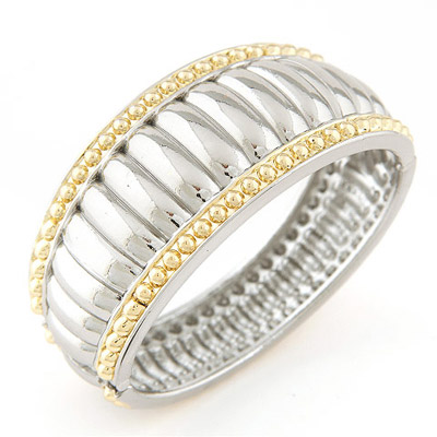 Vibrating Silver Color Bump Round Shape Design Alloy Fashion Bangles