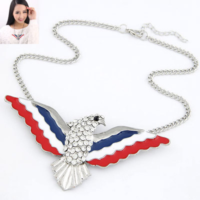 Imitation Silver Color Diamond Decorated Eagle Shape Design Alloy Chains