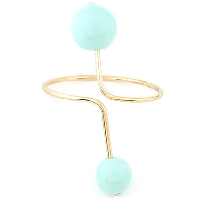 Slacks Light Blue Candy Ball Decorated Simple Desgin Alloy Fashion Bangles