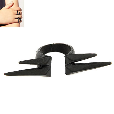 Mechanic Black Cone Shape Simple Design Alloy Korean Rings