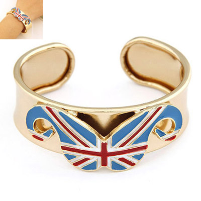 Marathon Gold Color Beard Shape Decorated Simple Design Alloy Fashion Bangles