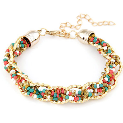 Lightning Multicolor bead weave simpel design Alloy Korean Fashion Bracelet