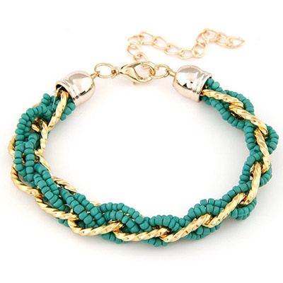 Volcom Green bead weave simpel design Alloy Korean Fashion Bracelet