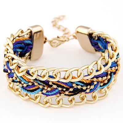 Madewell Purple Rope Weave Simple Design Alloy Korean Fashion Bracelet