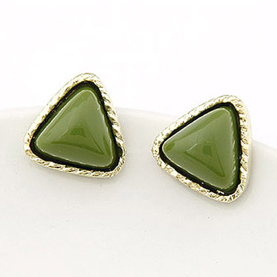 Winter Green triangle shape  simple design Alloy Stud Earrings