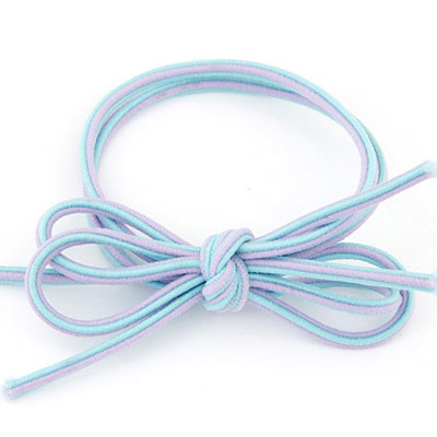 Fair Blue Bowknot Shape Simple Design Rubber Band Hair band hair hoop