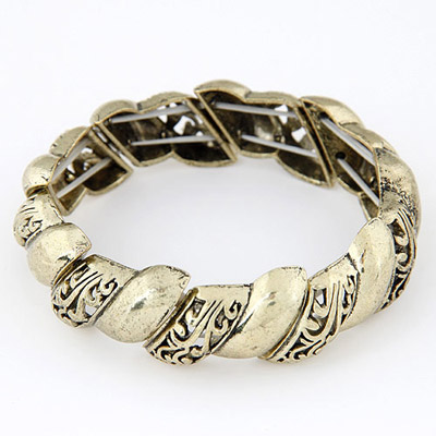 Adjustable Bronze Hollow Out Simple Design Alloy Fashion Bangles