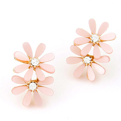 Apparel Pink Diamond Decorated Flower Simple Design