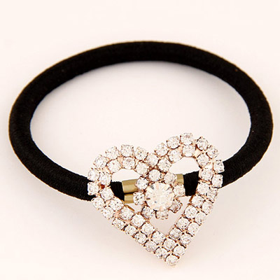 Chiropract Gold Color Heart Shape Decorated Simple Design Alloy Hair band hair hoop