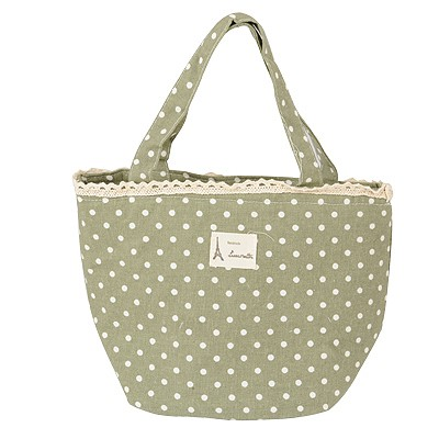 Heather Cyan Dot Pattern Waterproof Design Cotton Home Storage Bags