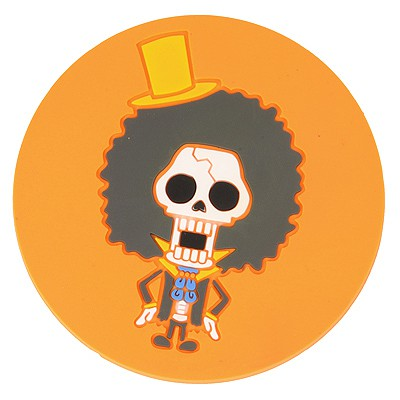 Monogramme Yellow Skull Head Pattern Round Shape Design Soft Rubber Household goods