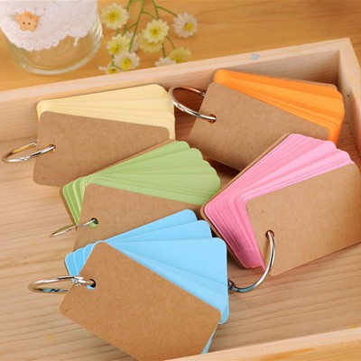 Hiking Color Will Be Random With Iron Ring Link Paper Notebook Agenda