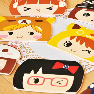 Customized Color Will Be Random Lovely Girl Pattern Design Paper Scratch Pad Sticky