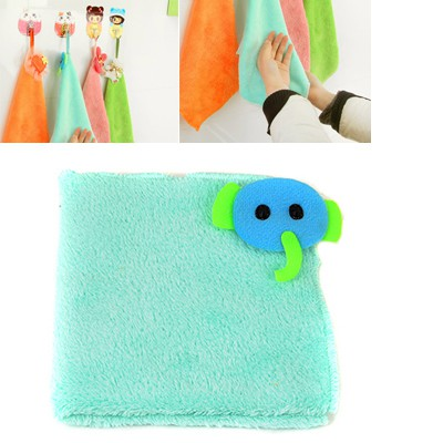 Inexpensiv Light Blue Cartoon Elephant Decorated Coral Fleece Household goods
