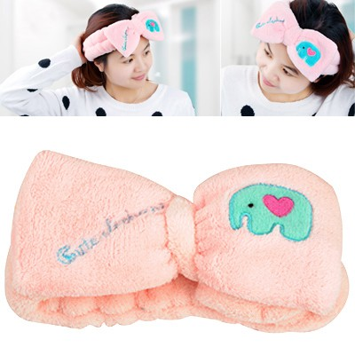 Apparel Pink Cartoon Elephant Decorated Coral Fleece Household goods
