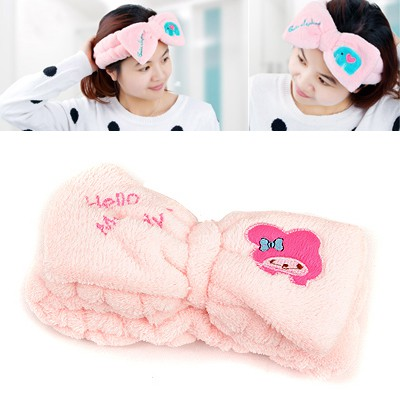 Diaper Pink Cartoon Girl Pattern Decorated Coral Fleece Household goods