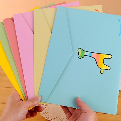 Splendid Color Will Be Random Cartoon Animal Decorated For A4 Paper Paper Pencil Case Paper Bags