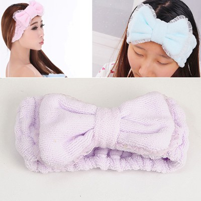 Golf Purple Lace Brim Butterfly Shape Design short fluff Household goods