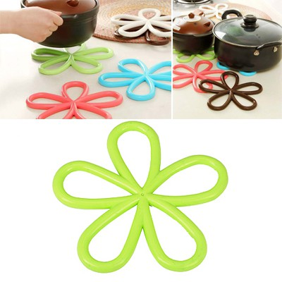 Skinny Green Plum Flower Insulation Heat-Proof Pad