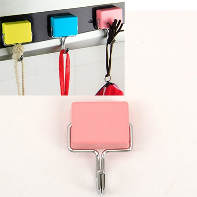 Nameplate Pink Simple Magnetic Non-Trace Hook Plastic Household goods
