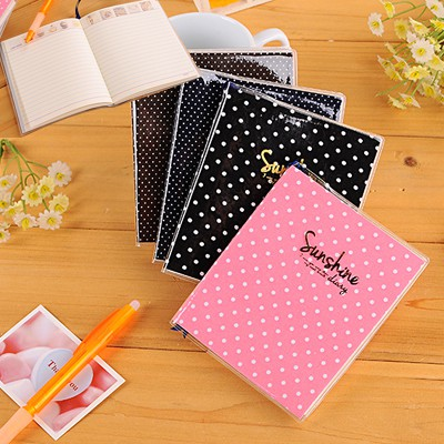 Minted color will be random small dots pattern simple design paper Notebook Agenda