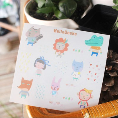 Cocktail picture color cartoon animals pattern design PVC Other Creative Stationery