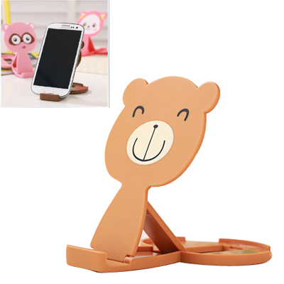 coffee lovely bear shape folding design ABS Phone holder