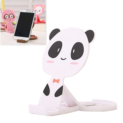 Human white lovely panda shape folding design ABS Phone holder